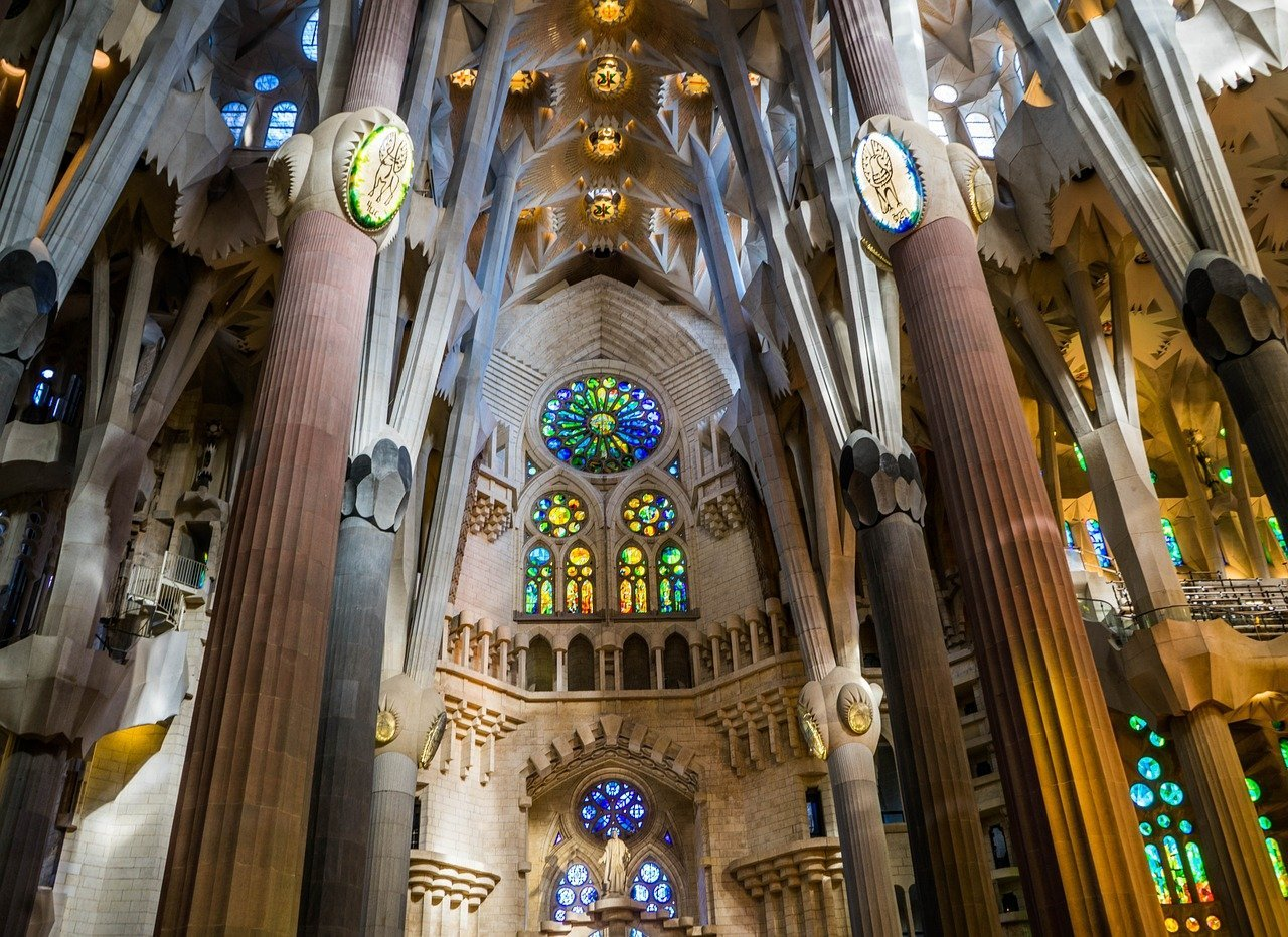 Barcelona Spain Sagrada Familia Cathedral