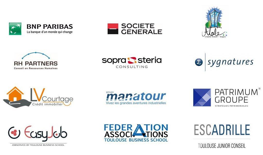 logos entreprises partenaires fond de solidarité TBS