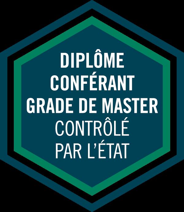 PGE Badge Diplôme conférant un grade de master contrôlé par l'Etat